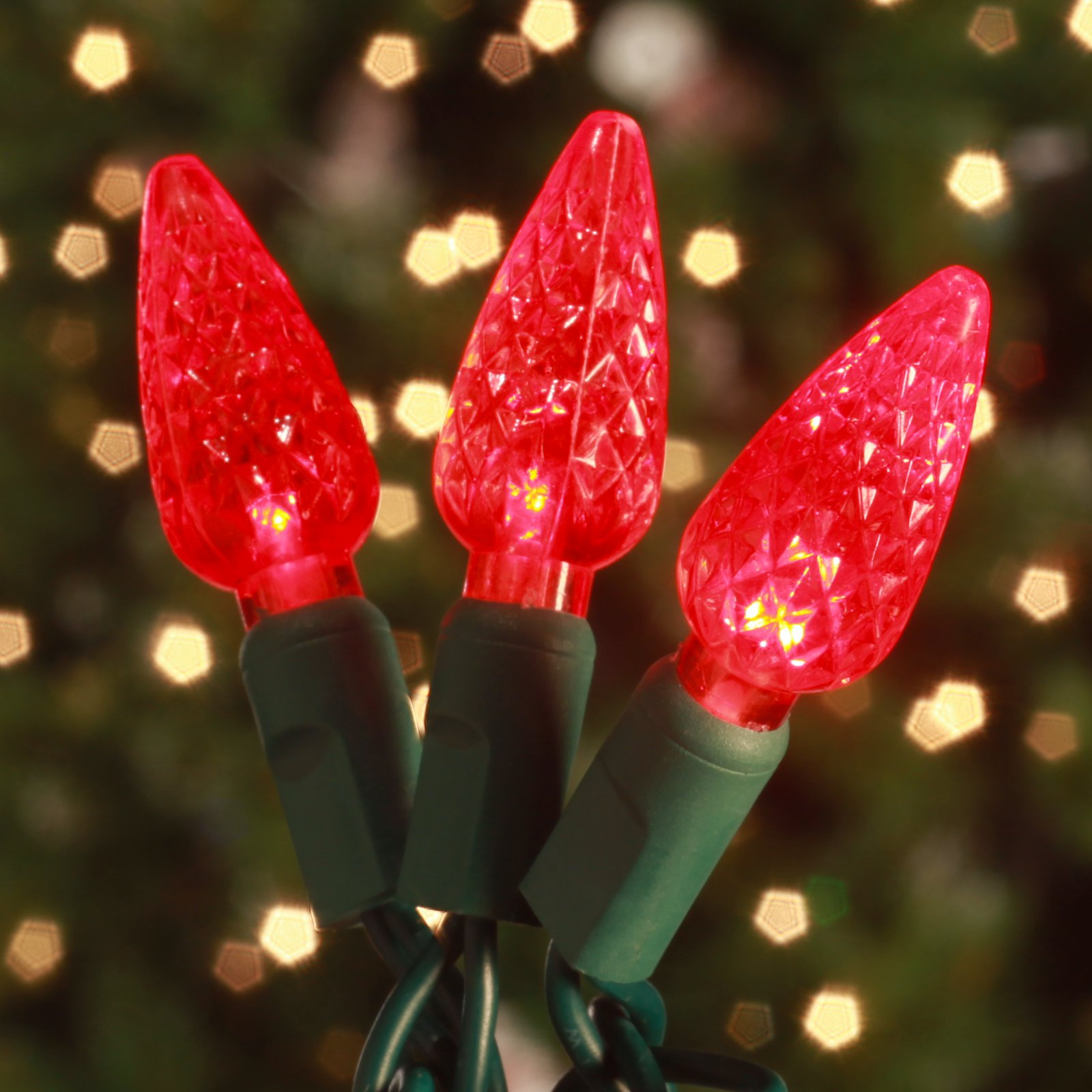 Commercial 70 ct. Red Strawberry LED Lights with 6 in. Spacing (Case)