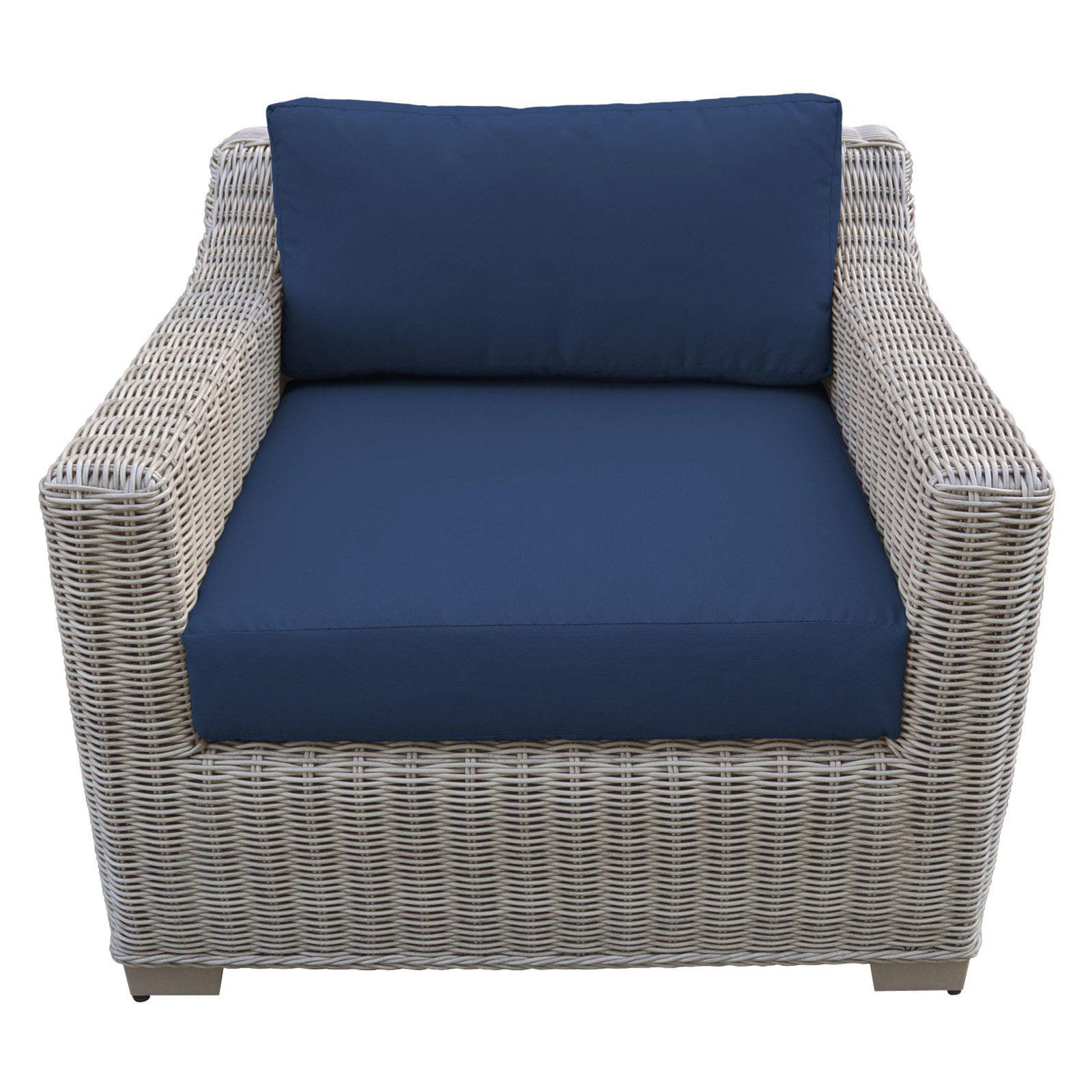TK Classics Coast Wicker Patio Club Chair