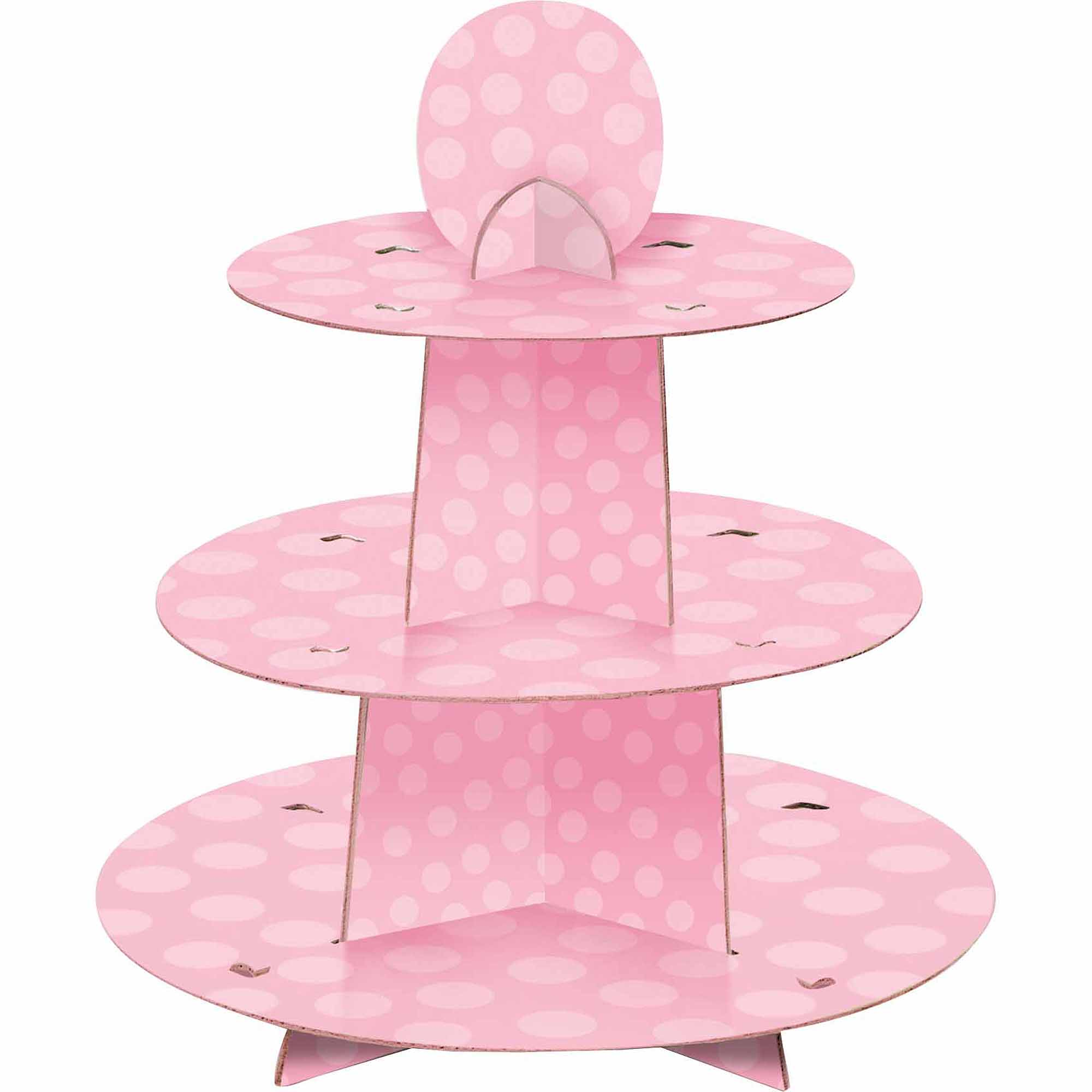 "13.5"" x 11"" Pink Cupcake Stand"