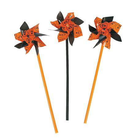 Fun Express - Halloween Pinwheels (3dZ-Un) for Halloween - Toys - Value Toys - Pinwheels - Halloween - 36 Pieces - Halloween Pinwheels Appetizers
