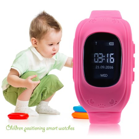 2017 New Anti Lost Kid Smart Gps Position Rubber Band Watch Q50 For Android For Ios  Pink