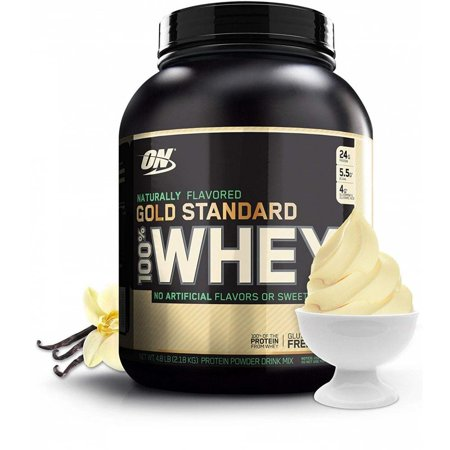 Optimum Nutrition 100% Natural Whey Gold Standard, Naturally Flavored Vanilla, 24g Protein, 4.8 Lb