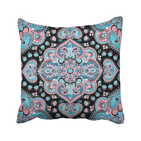 - BPBOP Indian Floral Paisley Medallion Pattern Ethnic Mandala Henna Tattoo Style Coloring Book Pillowcase Pillow Cover 18x18 inches