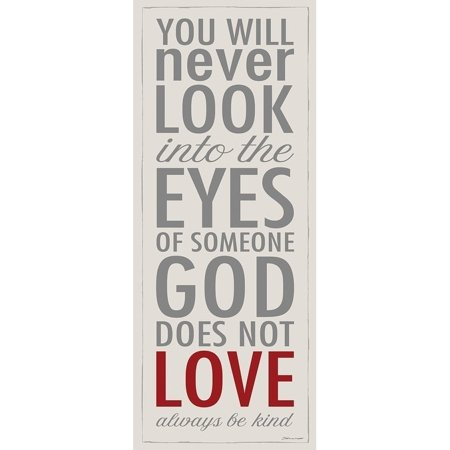 (The Stupell Home Decor God Loves Everyone Be Kind Typography Inspirational Wall Plaque Art, 7 x 17)