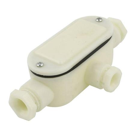 (Unique Bargains Plastic 11mm Hole Dia 3 Hole Plastic Underwater Junction Box for Waterscape)