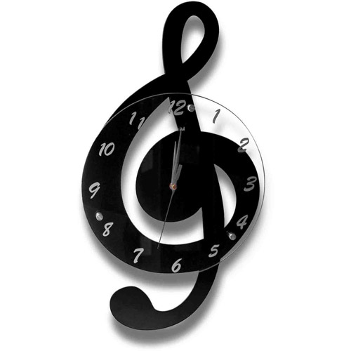 Clef Music Clock, For Music Lover, Conductor, Piano, Violin, Opera, Gift for anyone, Home, Office, Shop, Musci School, Product Size: 11.41x20.86x1.18
