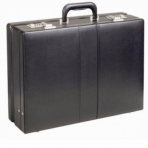 Solo Vinyl Expandable Attache, Black Finish