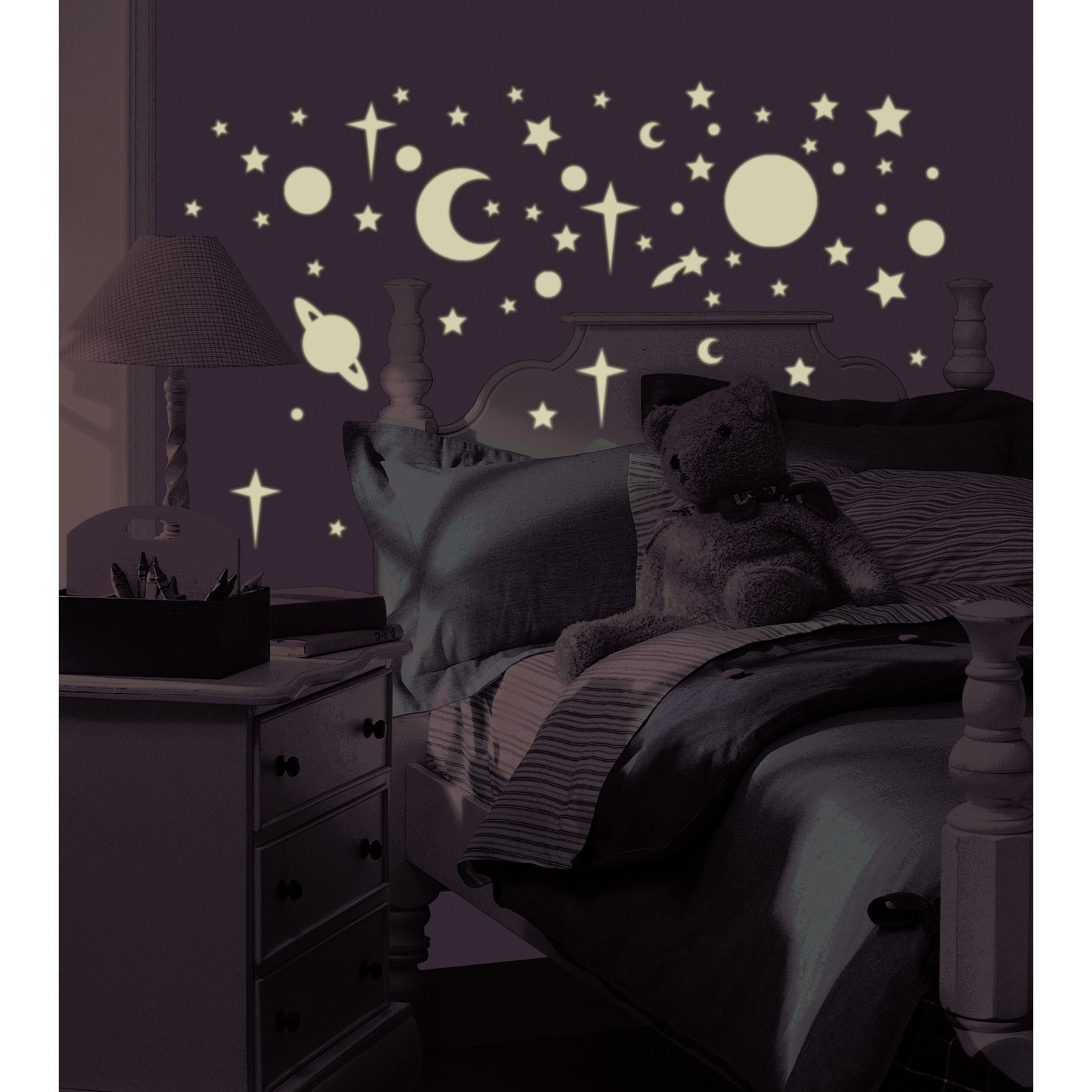 RoomMates - Glow-in-the-Dark Celestial Peel & Stick Wall Decals