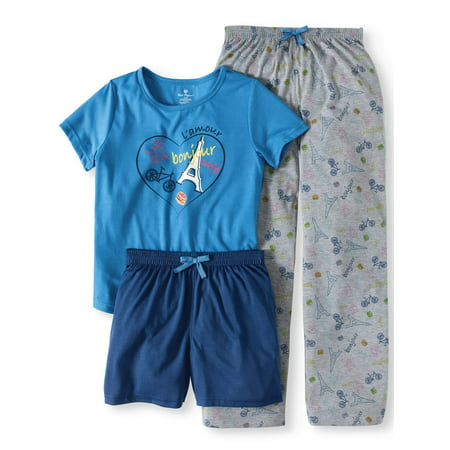 Girls' L'Amour Three Piece Pajama Set - Cute Dresses For Girls 10-12