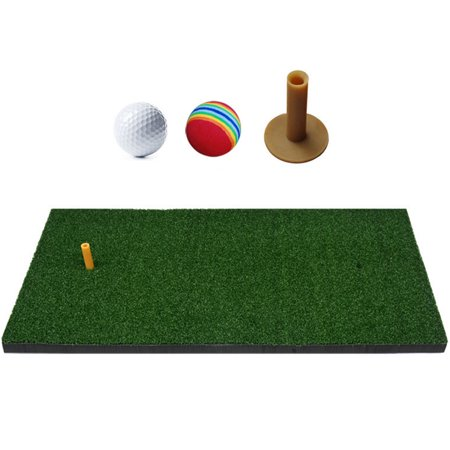 Golf Hitting Mats Golf Turf Practice Mat Indoor Backyard Training Hitting Pad Practice Rubber Tee Holder Grass Mat Golf Tee Mats