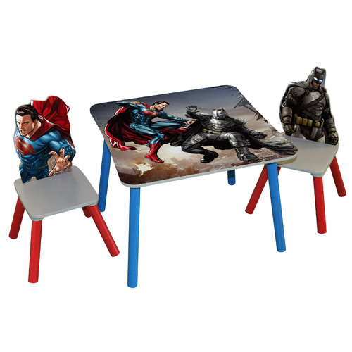 O'Kids Inc. Batman v Superman Dawn of Justice Kids' 3 Piece Rectangle Table and Chair Set