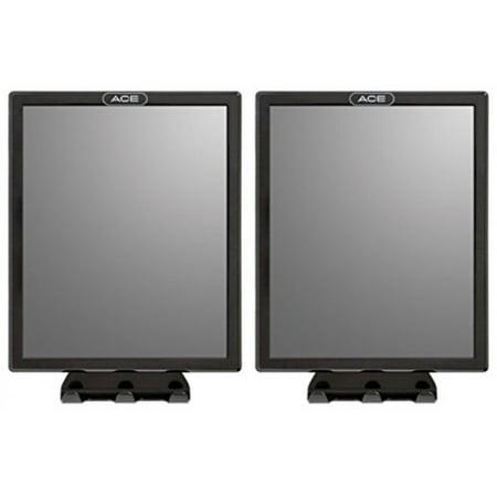 (Ace Fog Resistant Shower Mirror, Black - Value Pack of 2)