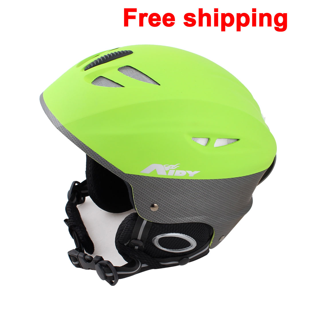 Women Men Skateboard Skiing Racing Bicycle Bike Sports Helmet Size L Matte Green by