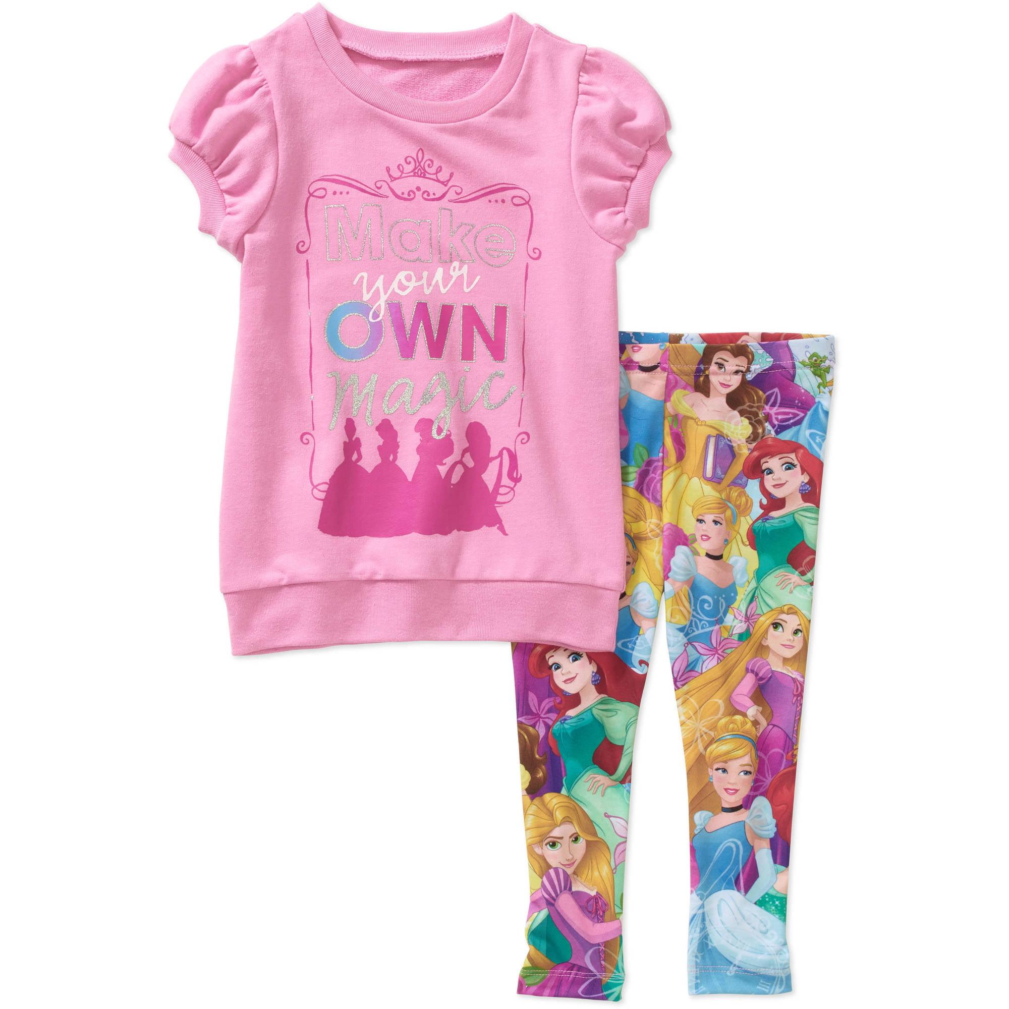 Disney Princess Toddler Girl Knit Tunic And Leggings Outfit Set