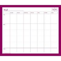 Mead Organizher Week to Week Magnetic Notepad - Memo Book-Notepad