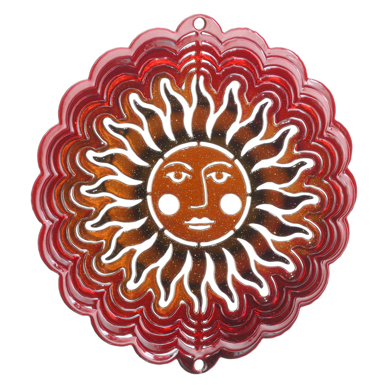 Next Innovations Sun Face Antique Red Copper Wind Spinner by Next Innovations