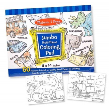 Jumbo Coloring Pad - Blue (Jumbo Halloween Coloring Pages)