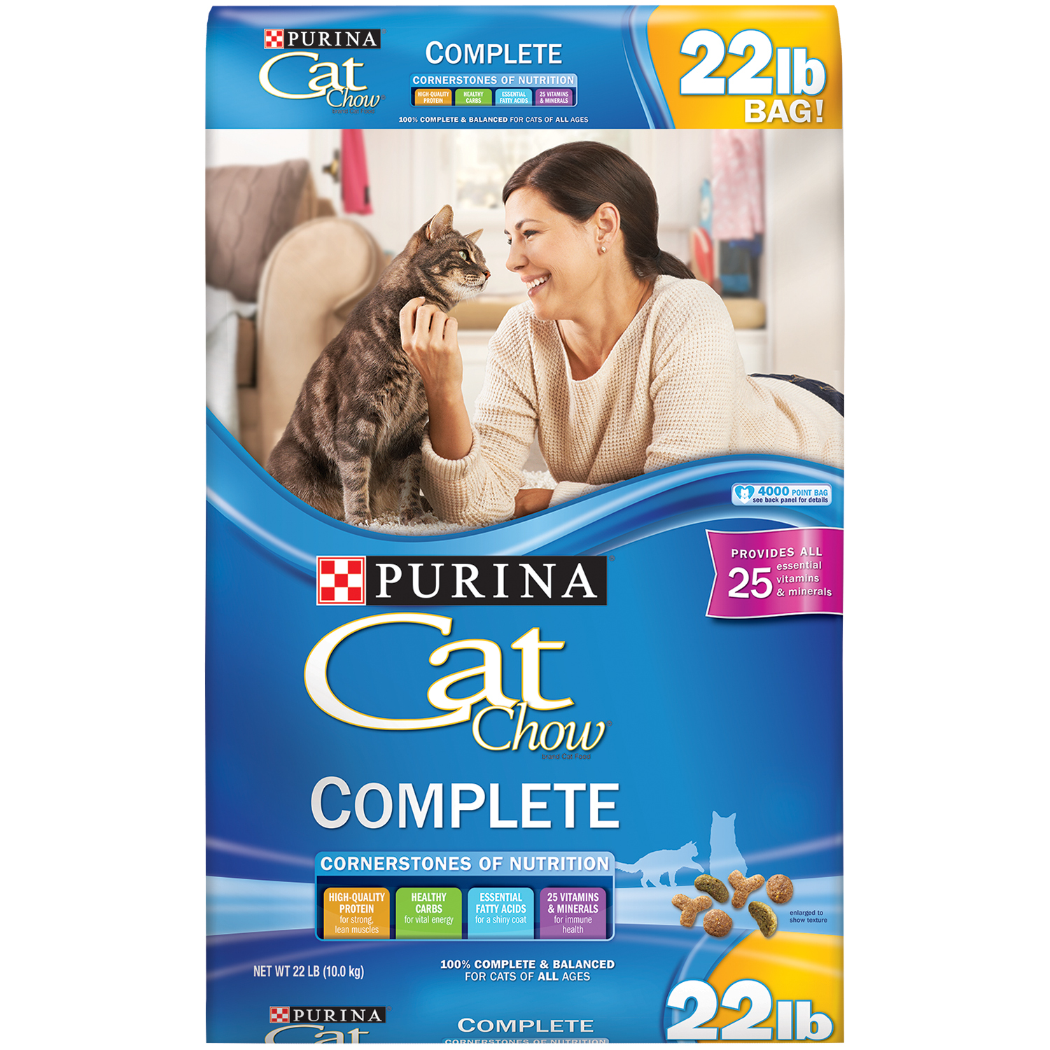 Purina Cat Chow Complete Cat Food 22 lb. Bag