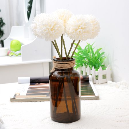 LYUMO 6Pcs Artificial Silk Flower Beauty Fake Dandelion Ball for Home Room Wedding Decor , Artificial Silk Balls, Artificial Silk Flower ()