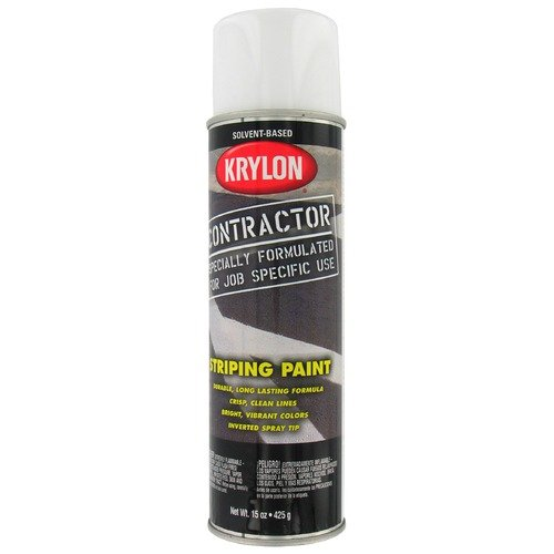 Krylon 15 Oz Solvent Based Highway White Contractor Striping Spray Pain (Set of 6)