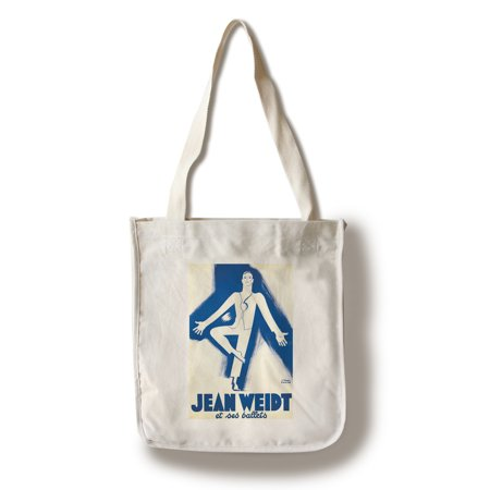Jean Weidt et ses ballets Vintage Poster (artist: Paul Colin) France c. 1938 (100% Cotton Tote Bag - Reusable)