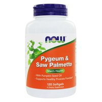 Now Foods Pygeum & Saw Palmetto, 120 Softgels-2 Pack