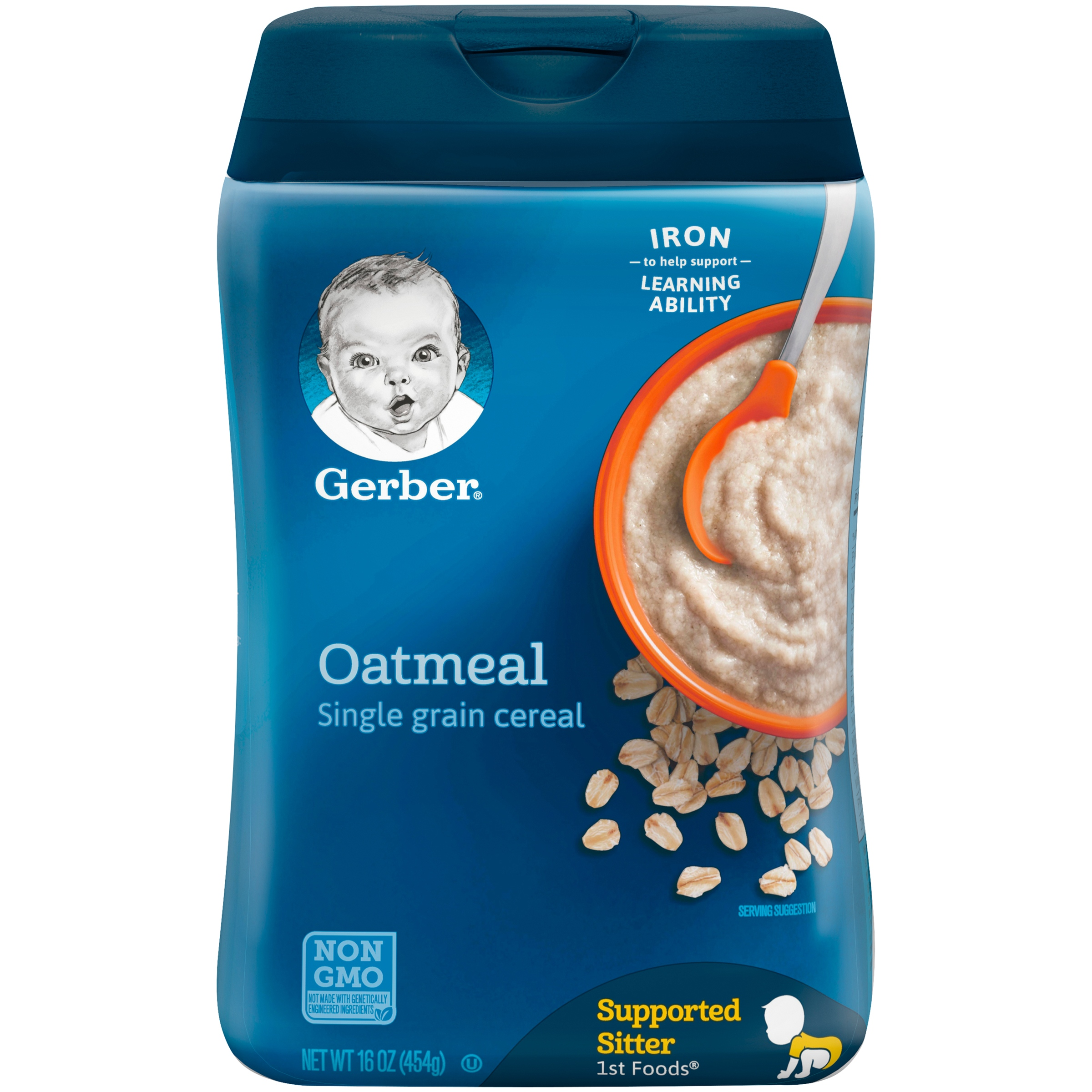 GERBER Single-Grain Oatmeal Baby Cereal, 16 oz