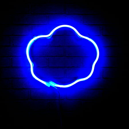 Urban Shop Fun Cloud Neon Light Wall Decor Sign, Available in Multiple Shapes & Colors