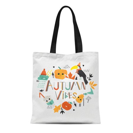 90s Stores (SIDONKU Canvas Tote Bag 90S Autumn Vibes Fall Cute Lettering Adge Apple Autumnal Reusable Shoulder Grocery Shopping Bags)
