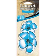 C Accessories Hawaiian Flower New Car Scent Hanging Tree Style Air Fresheners - 3 Pack