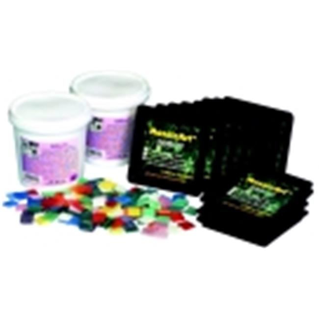 School Specialty Stained Glass Mosaic Tile Coaster Kit