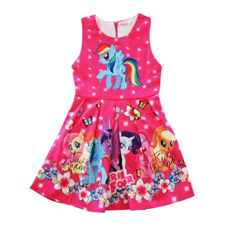 Wenchoice Girls Hot Pink My Little Pony Friends Forever A-Line Dress - My Little Dress Up
