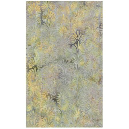"Feathered Scallops on Creamy Northern Lights Blender Batik Quilt Fabric ~ HALF YARD ~ IKF13F-P1 Quilt Fabric 100% Cotton 45"" (112 cm) Wide, Feathered scallop fronds on.., By Island Batik"