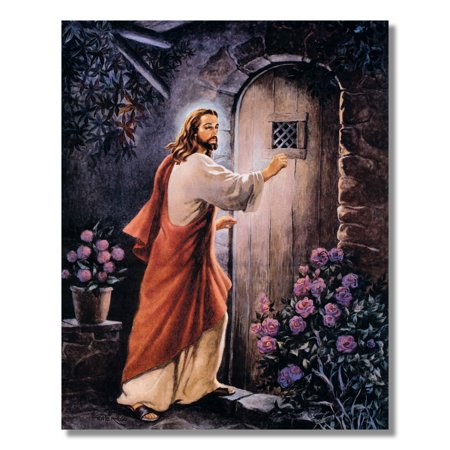 Jesus Knocking On Your Door Religious Wall Picture 8x10 Art - Antique Religious Print