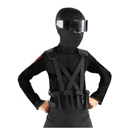 Childs GI Joe Retaliation Snake Eyes Costume Ninja Combat Vest With Holster](Halloween Joe Clear The Way)