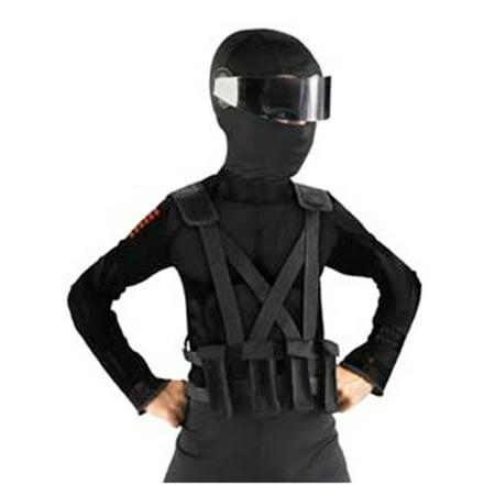 Childs GI Joe Retaliation Snake Eyes Costume Ninja Combat Vest With Holster](Ninja Eyes)