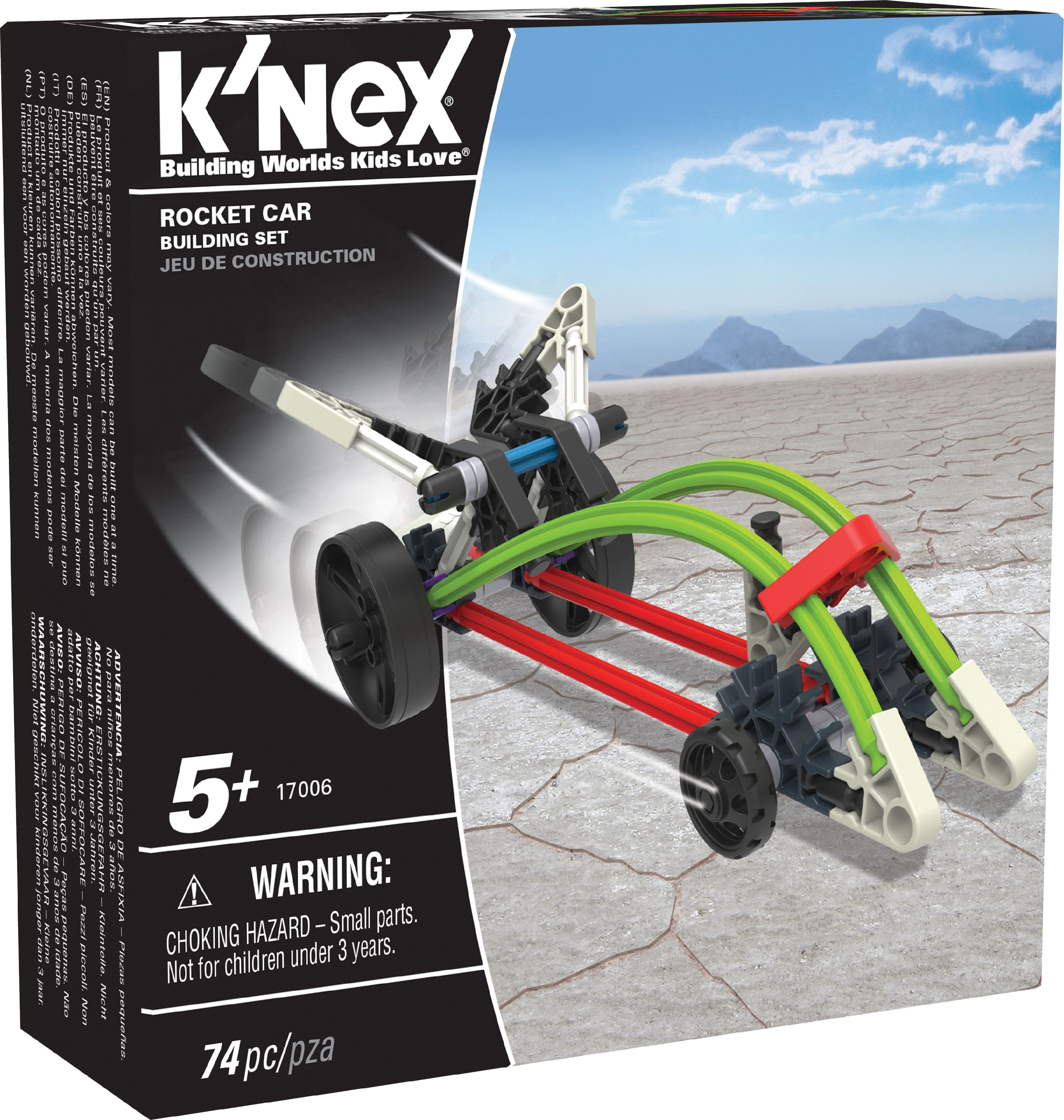 K'NEX Imagine - Rocket Car Building Set 74 Pieces For Ages 5+ Construction Education Toy