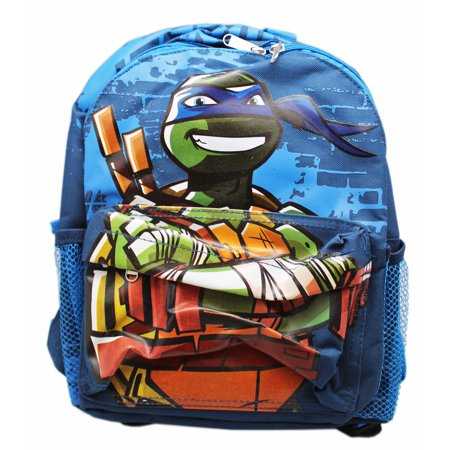 Ninja Turtle Backpack (Teenage Mutant Ninja Turtles Leonardo Blue Small Size Kids Backpack)