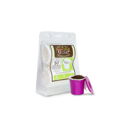 EZ-Cup Disposable Paper Coffee Filters for Reusable K-Cup Coffee Pod, 50-Ct