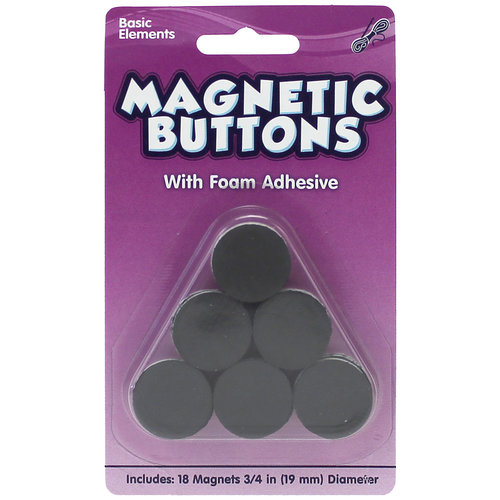 Kids Craft Magnetic Buttons with Foam Adhesive