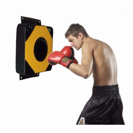 Wall Punching Bag, Boxing Pad for Taekwondo Karate Kicking Training, Square EPE Cotton Foam PU Leather Punching Pad