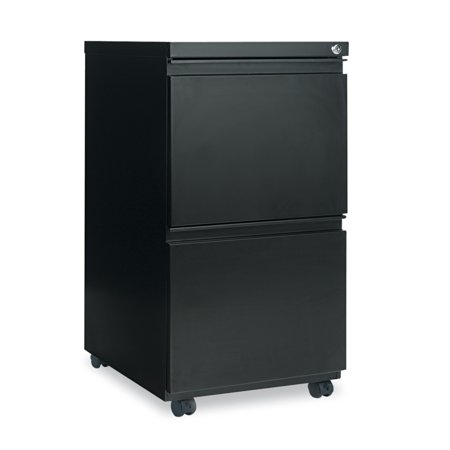 Alera 2 Drawers Vertical Lockable Filing Cabinet, Black ()