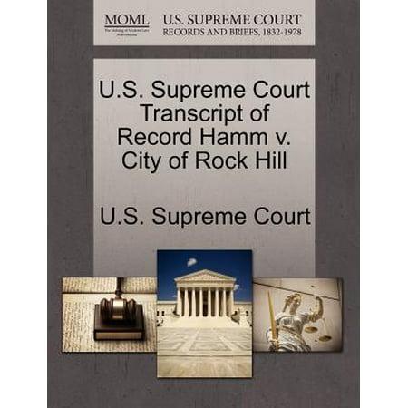 U.S. Supreme Court Transcript of Record Hamm V. City of Rock Hill