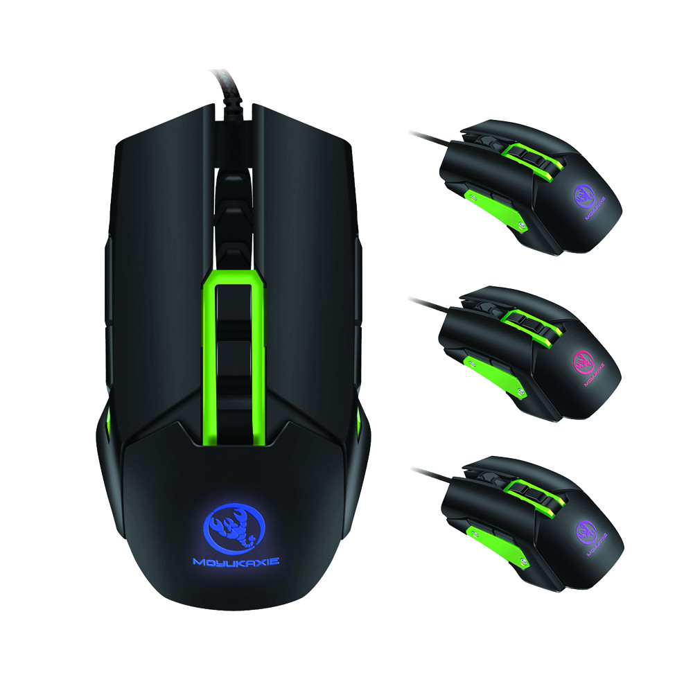 DZT1968 7 Button Wired Mechanical Macros Define Gaming Mouse 3200 DPI For Laptop PC Mice