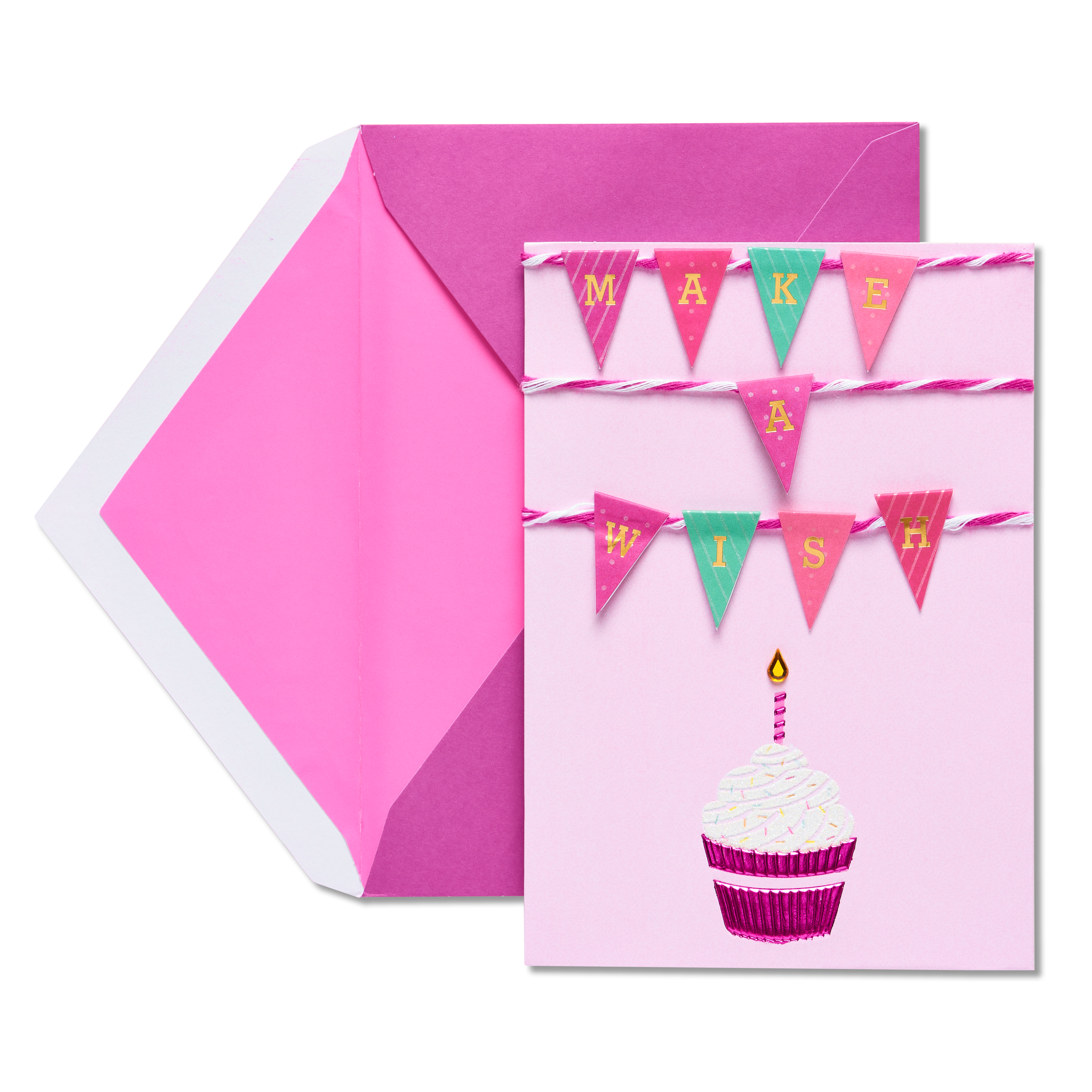 American Greetings Cupcake Birthday Card with Rhinestone