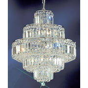 20 in. Ambassador Chandelier (Chrome - Crystalique)