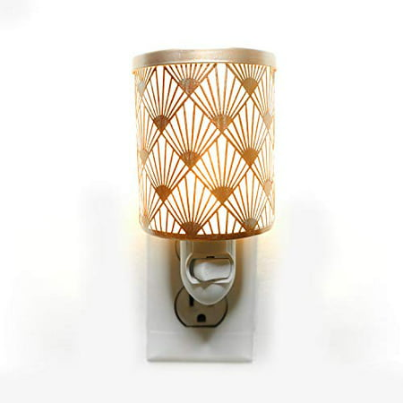 Peacock Rose Gold Plug-in Fragrance Warmer Diffuser for Scented Wax Cubes & Essential Oils ()