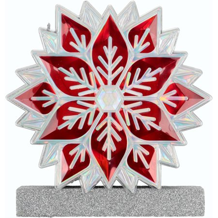 Holiday Time Snowflake Holiday Gem Decor