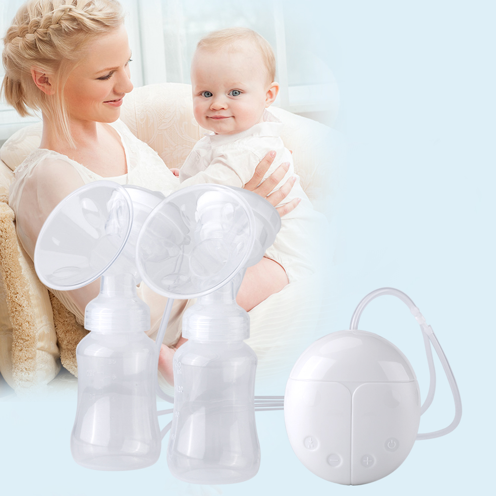 150ML Female Electric Breast Pump with Milk Bottle Breastfeeding Baby Nursing USB Charging, Breast Pump,... by Filfeel