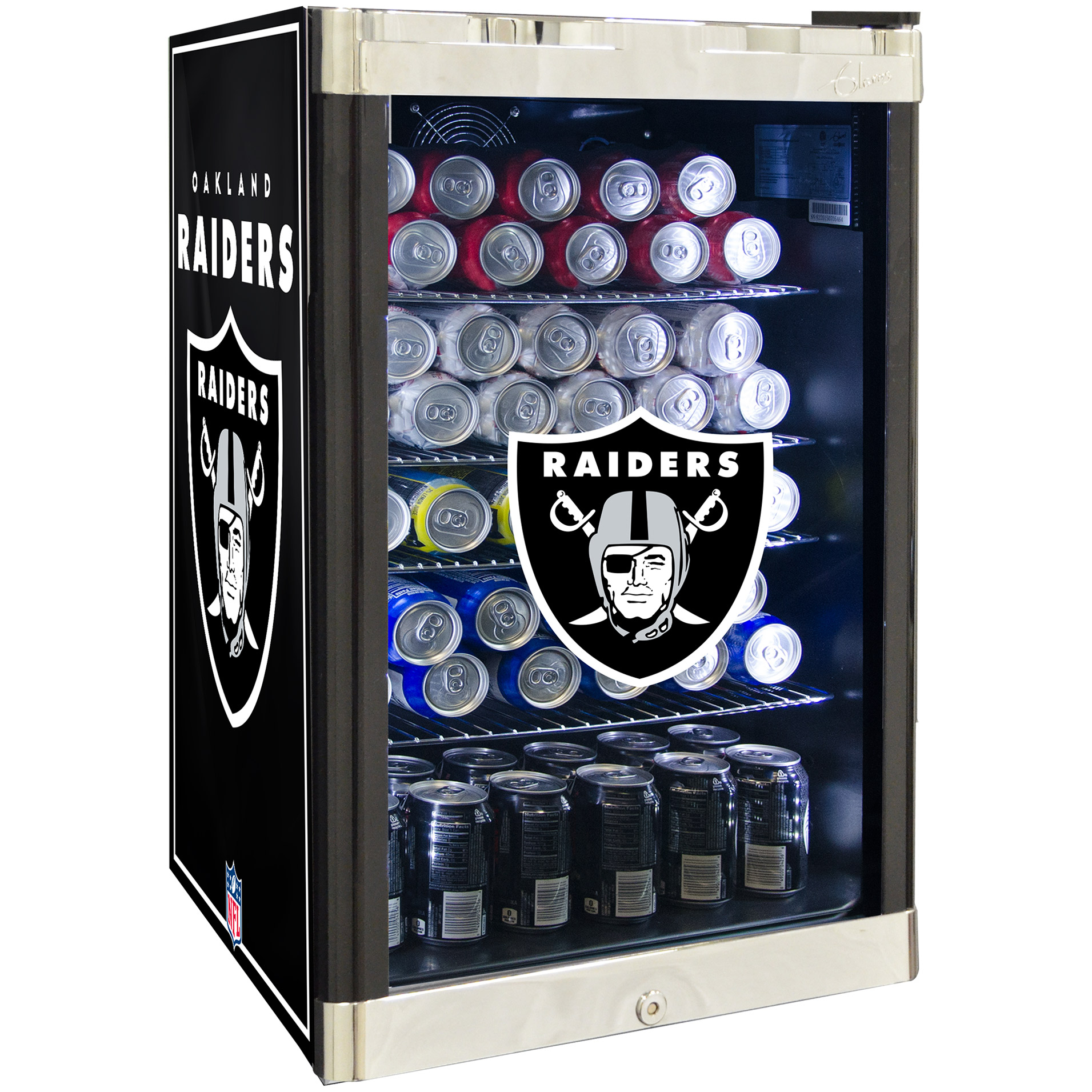 NFL Refrigerated Beverage Center 4.6 cu ft
